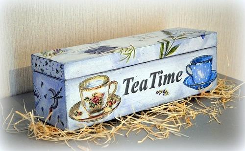 Мастер класс Декупаж шкатулки для чая