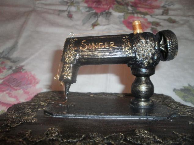 Мастер класс шкатулка швейная машинка этап 25