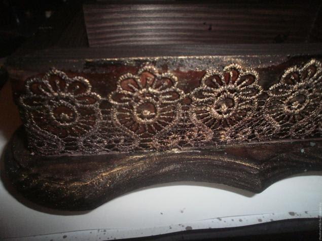 Мастер класс шкатулка швейная машинка этап 8