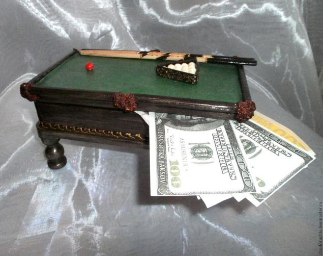 Мастер класс шкатулка бильярдный стол этап 11